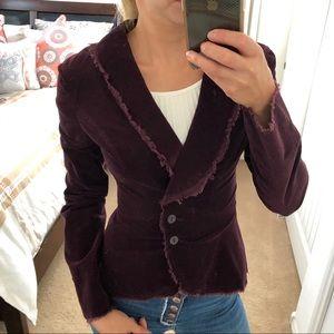 Zara burgundy corduroy blazer size 4